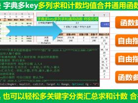 ExcelVba超级多列求和计数平均值最大最小合并同类项通用模板使用详解