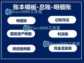 Excel模板 财务专用账本模板-总账-明细账 凭证模板 清晰实用