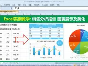 Excel月销售目标分析报告 图表分析美化模板50分钟详解  Excel报表【VIP视频教程】