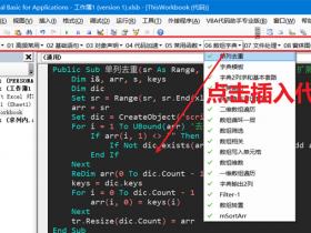 5. Excel VBA代码库收藏管理 VBA代码助手使用说明