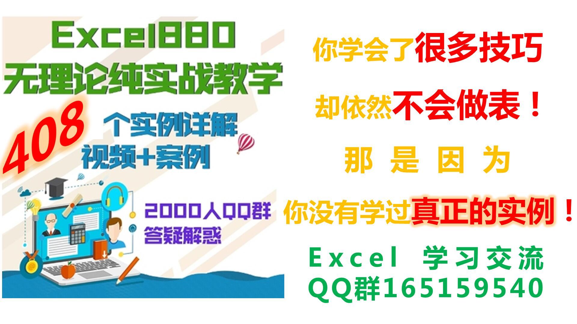 Excel实战密码408例 无理论纯实战 零基础极速入门 小菜鸟快速提高 函数 操作 图表 培训 案例 Exce880实例视频教程