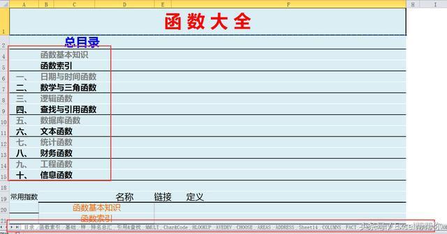 Excel函数大全表格500多函数1000个函数实例讲解 传说中的秘籍 图文