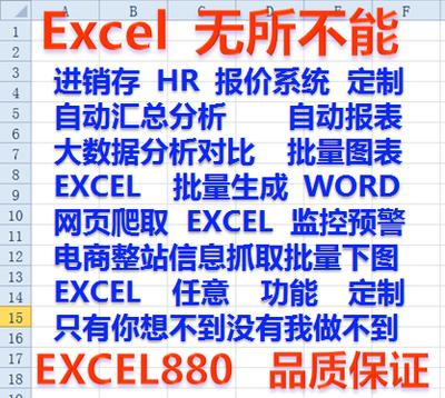 excel表格代工定制数据分析合并拆分报表模板VBA宏开发网页抓取