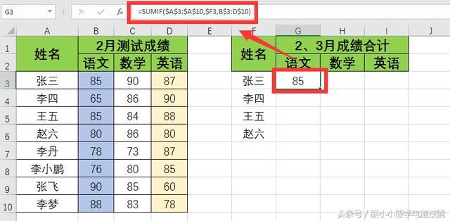 「Excel函数」2分钟学会SUMIF函数条件求和的8种技巧,100%用得到