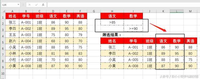 Excel中如何利用高级筛选实现单条件与多条件查询?