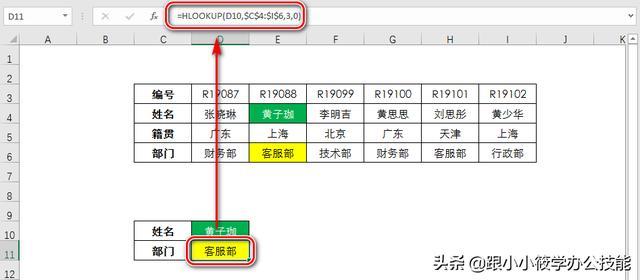 如果你学会了vlookup函数,再学Hlookup这个函数只需3分钟 图文